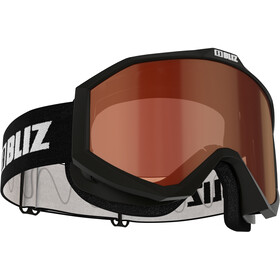 Bliz Liner Goggles Enkele Lens, black-white/orange